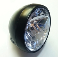inch all black motorcycle headlight