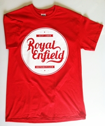 royal enfield shirt - red